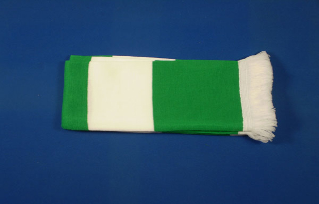 Green and White Bar Scarf